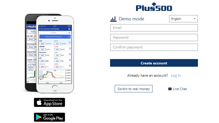 Plus500 Demo Account